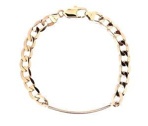 【送料無料】ブレスレット アクセサリ― イエローゴールドアイデンティティブレスレットポスト9ct yellow gold identity bracelet age post 2000