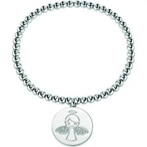 【送料無料】ブレスレット カフサービスbracciale elastico sector donna charm angelo incisione gratis