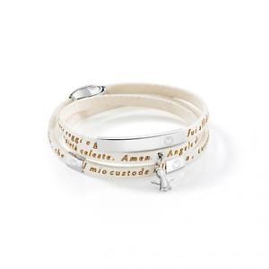 【送料無料】ブレスレット セクターブレスレットスキンペンダントsector braccialetto uomo donna love articolo sado13 pelle angelo mio ciondolo