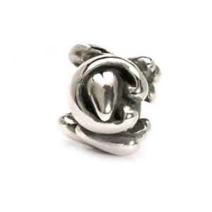 【送料無料】ブレスレット シルバービードtrollbeads bead in argento lettera iniziale c tagbe10062