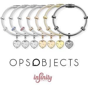 【送料無料】ブレスレット オブジェクトカフスチールops objects true bracciale donna cristalli trasparente acciaio opsbr490