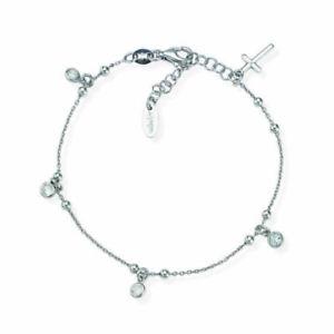 【送料無料】ブレスレット アーメンカフシルバークロスamen bracciale croce argento zirconi bbz