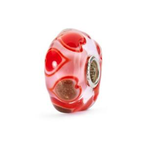 【送料無料】ブレスレット ガラスハートtrollbeads vetro cuore in fiore edizione limitata tglbe20061