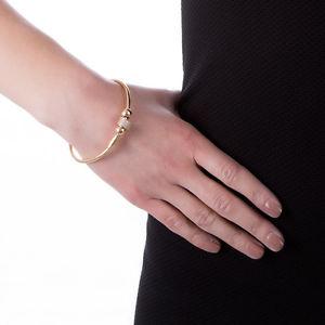 【送料無料】ブレスレット メタルブレスレットイエローゴールドboccadamo bracciale rigido plac oro giallo,passant cilindrico in zirconi xbr115d