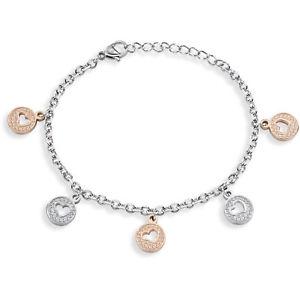 【送料無料】ブレスレット カフシルバーファッションクラシックbracciale sector sado63 cuore ros silver moda donna family e love classico