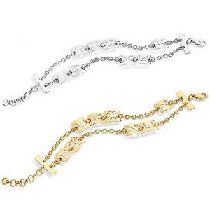 【送料無料】ブレスレット カフリュジョシルバーゴールドミシンファンタジーbracciale donna liu jo lj763 lj760 ottone silver pvd oro fantasie forate logato