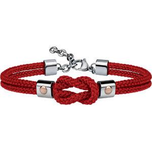【送料無料】ブレスレット ブレスレットロープkbracciale uomo acciaio corda rossa 9k breil tj2596