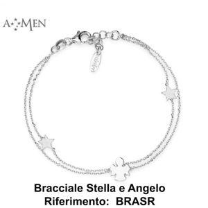 【送料無料】ブレスレット カフシルバーコレクションアーメンカフステラアンジェロコードbracciale argento 925 collezione amen con bracciale stella e angelo codice brasb