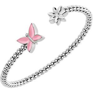 【送料無料】ブレスレット スチールブレスレットバタフライピンクbracciale acciaio donna morellato farfalla rosa fiore semirigid enjoy saje20