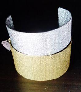 【送料無料】ブレスレット メタルブレスレットゴールドシルバーシルバービンテージbracciale rigido cerchio schiava bicolor oro argento silver dorato donna vintage