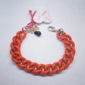 【送料無料】ブレスレット カフペイントチェーンオレンジブレスレットメッシュドールle carose bracciale paint catena arancio groumette bracciali colorati maglia dor