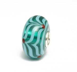 【送料無料】ブレスレット ビーズガラスtrollbeads bead in vetro unico verde acqua a75