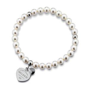 【送料無料】ブレスレット カフトレスジョリーシルバーニュースビーズbracciale donna tres jolie jewels perle e cuore in argento 925 brtr0013 novit
