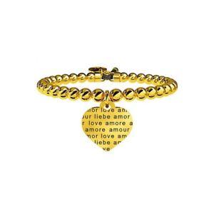 【送料無料】ブレスレット スチールカフbracciale kidult love in acciaio 316l e cristalli 231542