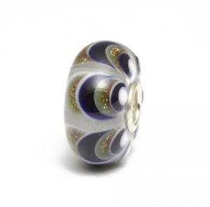 【送料無料】ブレスレット ビードガラスtrollbeads bead in vetro unico blu glitter a68