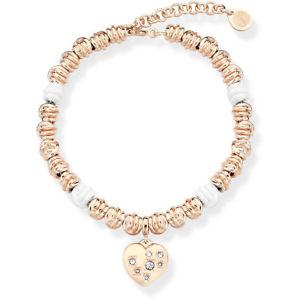 【送料無料】ブレスレット カフノードops bracciale nodi opsbr473 bianco con cristalli