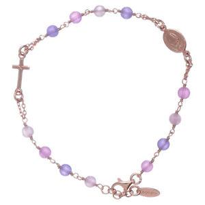 【送料無料】ブレスレット ブレスレットアーメンbracciale rosario arg 925 amen giada colorata