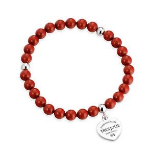 【送料無料】ブレスレット トレスジョリーシルバーハートbracciale elastico donna tres jolie jewels corallo e cuore in argento brtr0022