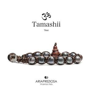 【送料無料】ブレスレット カフチベットtamashii bracciale tibet etno monaci buddhisti perla nera bhs900195