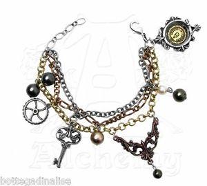 【送料無料】ブレスレット ミセスハドソンセラーキーブレスレットカフピュータースワロフスキーmrs hudsons cellar keys bracelets alchemy a81 bracciale peltro e swarovski