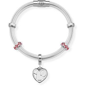 【送料無料】ブレスレット カフシルバーops bracciale true opsbr493 silver con cristalli rossi