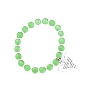 【送料無料】ブレスレット カフアーメンムラノガラスペンダントビーズbracciale elastico amen ad8v con perle di murano verdi ciondolo angelo con pregh