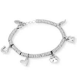【送料無料】ブレスレット カフシルバーmabina bracciale fortuna argento 533098 76