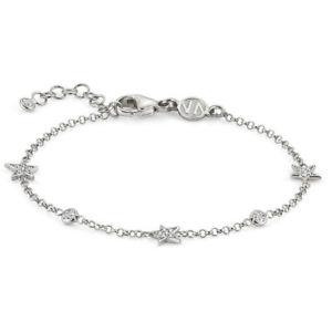 【送料無料】ブレスレット カフシルバーbracciale donna argento con zirconi stella nomination 146706010
