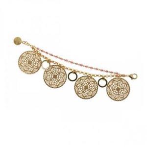 【送料無料】ブレスレット カフゴールドbracciale donna unoaerre 1ar exb11640 ottone dorato gold charms