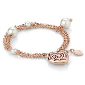 【送料無料】ブレスレット カフスワロフスキービーズbracciale donna cuore con perle swarovski roseblush 131401011 nomination