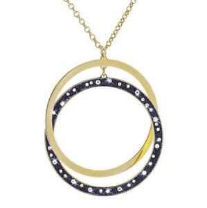 【送料無料】ブレスレット ネックレスブリングデニムstroili girocollo bling bling denim in ottone dorato e cristalli 1619353