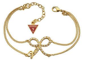 【送料無料】ブレスレット カフステープルゴールドguess bracciale donna fiocco pvd gold con swarovsky ubb71302