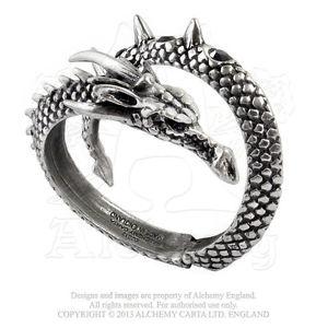 【送料無料】ブレスレット ピュータースワロフスキーゴシックドラゴンブレスレットalchemy a88 bracciale in peltro inglese e swarovski vis viva a drago gotico