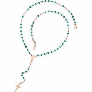 【送料無料】ブレスレット ロザリーネックレスアーメンrosario collana amen argento ros cristalli colore verde crorv4