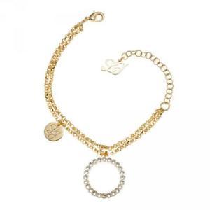 【送料無料】ブレスレット カフリュジョカプセルゴールドコレクションbracciale donna liu jo luxury capsule lj707 ottone cerchio gold collezione