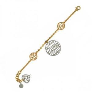 【送料無料】ブレスレット カフゴールドシルバーハートbracciale donna unoaerre 1ar exb2314g ottone dorato gold silver cuore charms