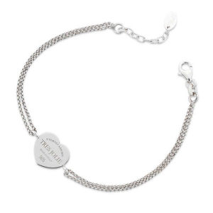 【送料無料】ブレスレット カフトレスジョリーシルバーダブルチェーンbracciale donna tres jolie jewels doppia catena cuore in argento 925 brtr0005