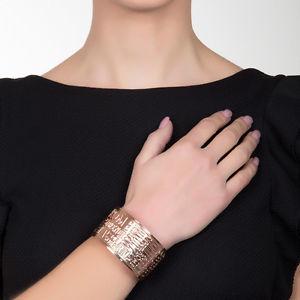 【送料無料】ブレスレット リリーフブレスレットピンクゴールドboccadamo bracciale placcato oro rosa con fotoincisioni in bassorilievo xbr106rs