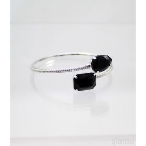 【送料無料】ブレスレット カフブラックアートbracciale joelle bijoux nero art 4004