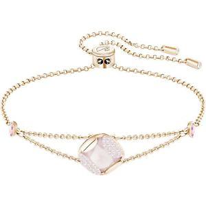 【送料無料】ブレスレット カフスワロフスキーブレスレットヒープピンクゴールドbracciale donna swarovski braccialetto heap cuschion oro rosa 5295570 sconto 50