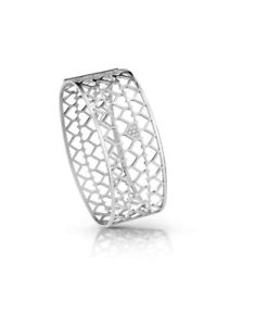 【送料無料】ブレスレット カフジャミーラコレクションシルバーbracciale guess jewelry jamila collection ubb85067s silver