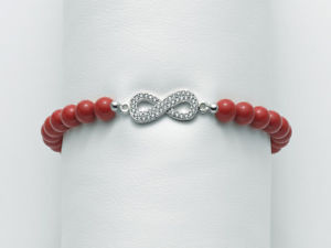 【送料無料】ブレスレット カフmiluna bracciale elastico donna terra e mare perla corallo infinito br670tpz