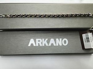 【送料無料】ブレスレット ステンレススチールブレスレットbracciale uomo arkano jewels in acciaio anallergico