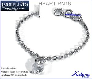 【送料無料】ブレスレット カフコレクションハートスチールクリスタッロbracciale collezione morellato heart rn16 68 acciaio cristallo