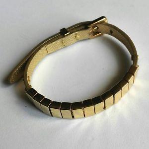 【送料無料】ブレスレット ミハエルブレスレットmichael kors bracciale in pelle dorato darrington saffiano