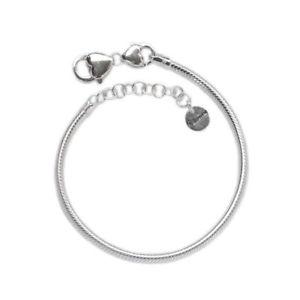 【送料無料】ブレスレット カフシャルマンシルバーサイズbracciale charmant brc02 in argento 925 misura 16