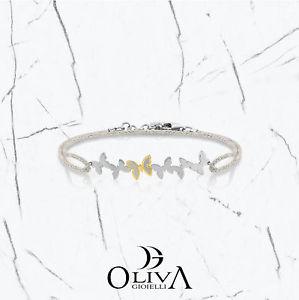 【送料無料】ブレスレット バタフライブレスレットスチールbracciale butterfly acciaio oro 750 rame silver 027309010 nomination