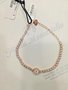 【送料無料】ブレスレット カフジュエルシルバーbracciale osa jewel argento 925 ros con zirconi e con iniziale e