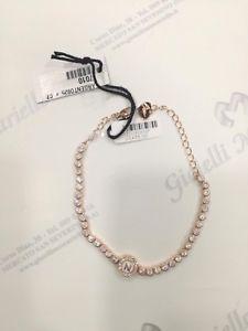 【送料無料】ブレスレット カフジュエルシルバーbracciale osa jewel argento 925 ros con zirconi e con iniziale n