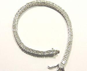 【送料無料】ブレスレット カフシルバーモデルテニスbracciale argento 925 modello tennis con zirconi mm 3,5 x 3,5